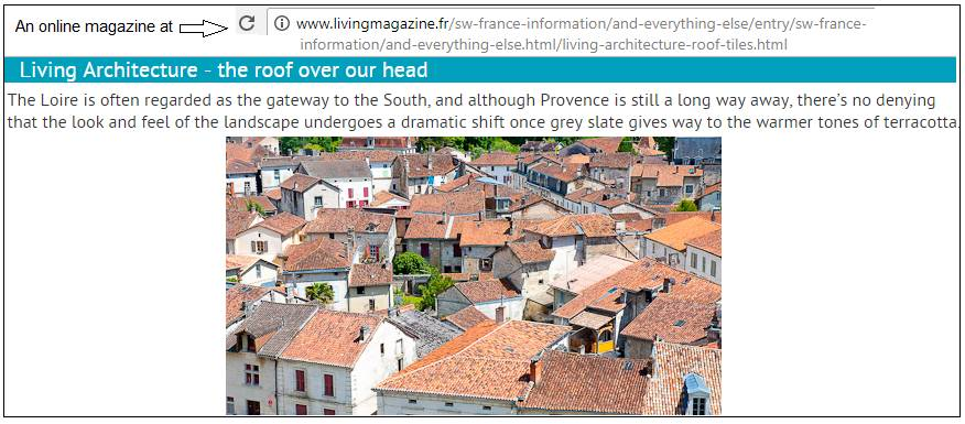 terra cotta roofs in France, not PCB-containing asphalt shingle
